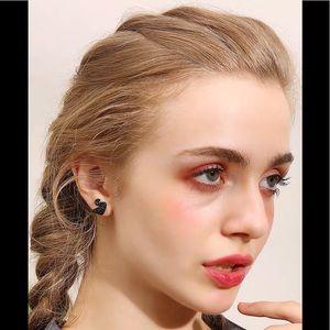 Swarovski Crystal Black elegant earrings